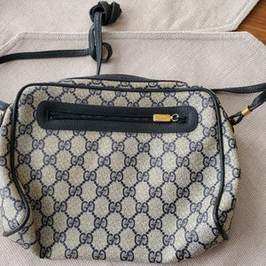 Navy Gucci Bag with strap